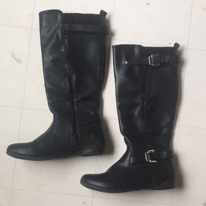 Call it Spring black riding boots